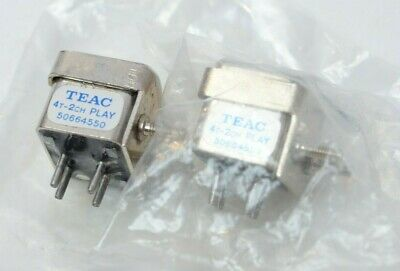 Vintage GENUINE TEAC 50664550 4T-2CH 4-Track 2 Channel Tape Play Head Lot of 2!