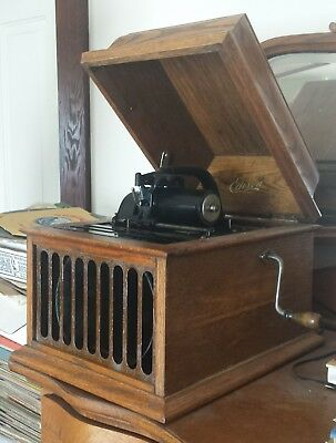 Antique Edison Amberola Model 30 Cylinder 4 minute Phonograph Vintage