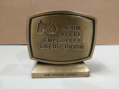John Deere Employees Credit Union 4th Edition 1981 Metal Coin Bank