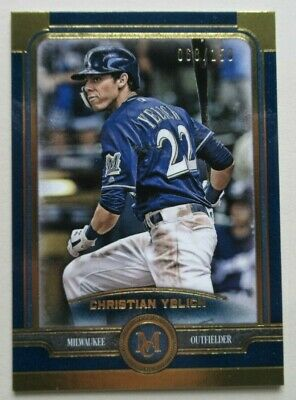 2019 Topps Museum Collection /150 Gold Christian Yelich Milwaukee Brewers