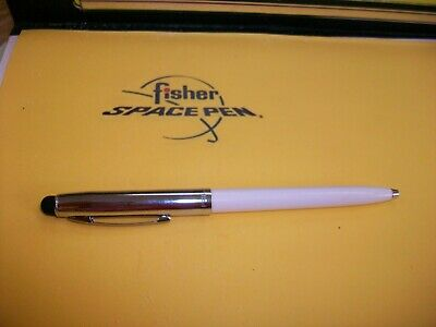 Fisher Space Pen bullet chrome white CAP-O-MATIC with stylus