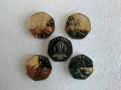 2019 Isle of Man ICC Cricket World Cup Set of 50p coins - Uncirculated