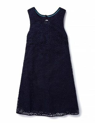 NEW Boden Navy Blue Mini Tent Dress WH852 Eyelet Broderie Size US 12
