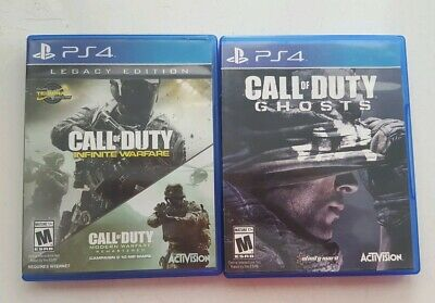 Call of Duty: Infinite Warfare -- Legacy Edition (Sony PS4, 2016) plus COD Ghost