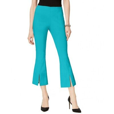 INC NEW Women's Curvy Fit Split Hem Pull On Cropped Flare Pants TEDO