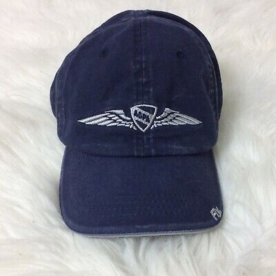 AOPA Aircraft Owners Pilots Association Blue White Baseball Hat Cap Adjustable