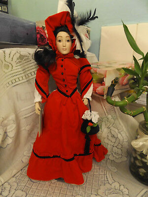 BEAUTIFUL FRANKLIN HEIRLOOM  PORCELAIN 46 cm DOLL.