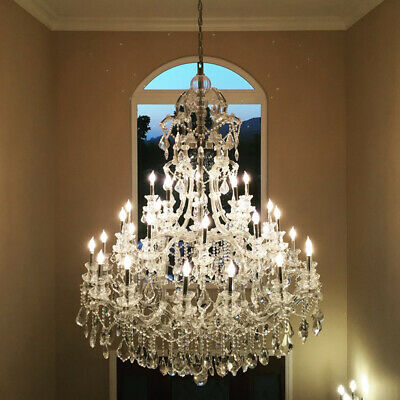 "SALE Maria Theresa 48 Light Crystal Chandelier Tall Large Three Tier 52"" W x 86"""