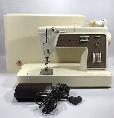 Vintage Singer Deluxe Zig-Zag Sewing Machine Model 758 Made In USA Working
