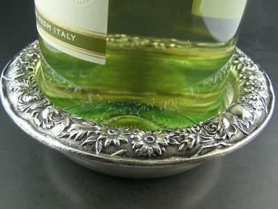 Estate Sterling S KIRK & SON Wine Bottle Coaster REPOUSSE ornate
