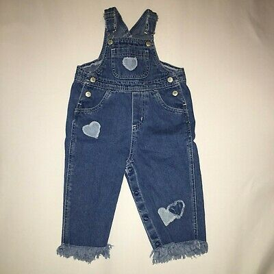 THE CHILDRENS PLACE Toddler Baby Girl Overall pants Jeans Size 12 Months