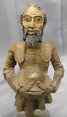 Old Vintage Hand Carved Wooden Spanish Don Quixote Figure Statue Wood Carving...