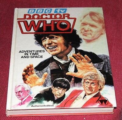 BBC TV DOCTOR WHO 'ADVENTURES IN TIME AND SPACE' BOOK - Authorised Edition
