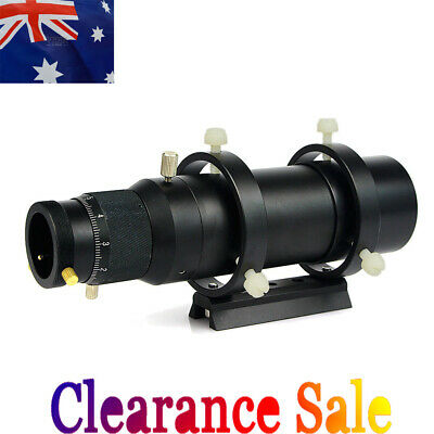 50mm Guide Scope Finderscope with Helical Focuser+Dovetail Plate for TelescopeAU