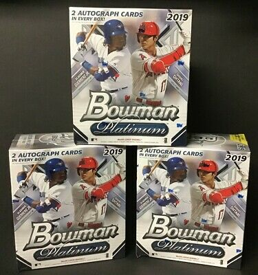 (3) BOXES - 2019 Bowman Platinum Baseball Mega Box 20 Packs 2 Autos per Box NEW!
