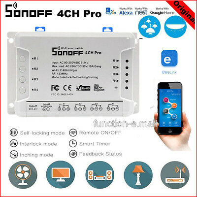 SONOFF PRO 4CH 4 Channel Din Rail Mounting Smart Switch Home