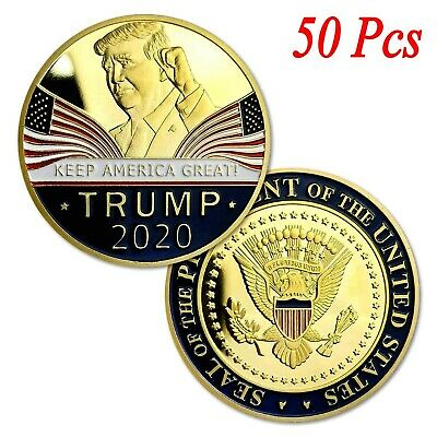 50X Donald Trump 2020 Keep America Great Commemorative Challenge Coin Eagle Coin