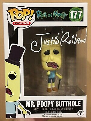 Justin Roiland Signed/Autographed Funko Pop Rick & Morty Mr. Poopy Butthole COA