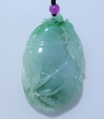 Chinese Exquisite Hand-carved cicada Carving jadeite jade Pendant