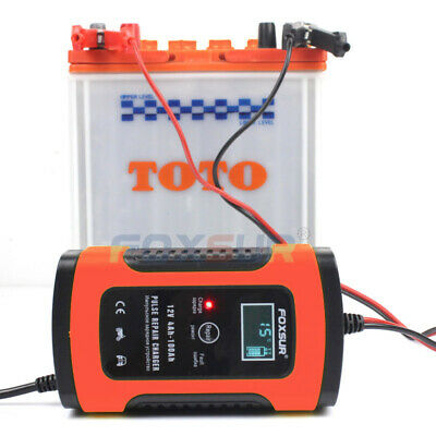FOXSUR Automatic Charging Protects 12V 6A EU Fully Automatic Car Battery Charger