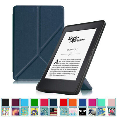 For All-New Amazon Kindle Paperwhite 2012-2016 Gen Origami Case Stand Auto Wake