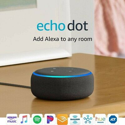 Echo Dot (3rd Gen) - Smart speaker with Alexa - Charcoal - Brand New - Sealed