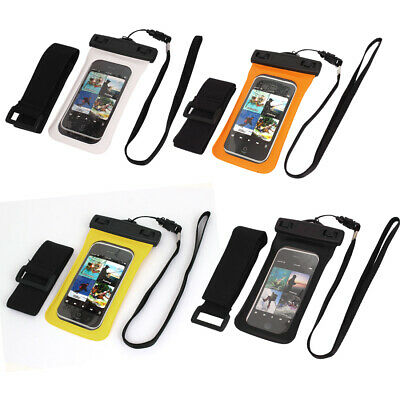 "Waterproof Case Dry Bag Skin Cover Pouch + Strap for 4"" iPhone Cell Phone"