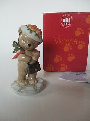 Victoria Teddy Bear Figurine 1998-B&G/ Bing & Grondahl-Hat/Purse/Shawl- Box-Mint