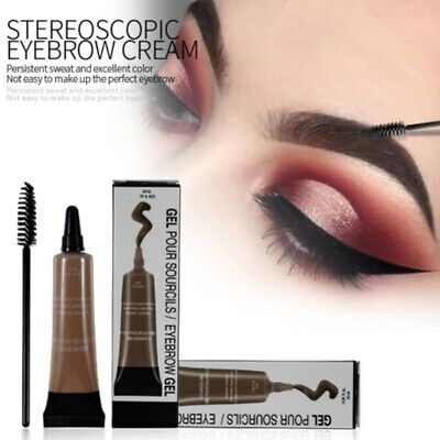 Eye Brow Tattoo Tint Dye Gel Waterproof Long Lasting Eyebrow Cream Cosmetic Set