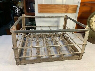 Vintage Galvanised Metal NSW North Coast Milk Bottle Delivery Storage Crate