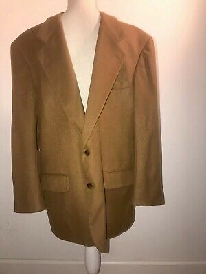 Bill Blass Lord Taylor Pure Cashmere Camel Brown Blazer Jacket Coat 42/44R Mens