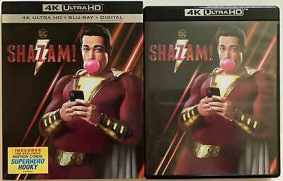 Dc Shazam! 4K Ultra Hd Blu Ray 2 Disc Set + Slipcover Sleeve Free World Shipping