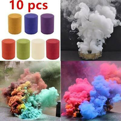 US Colorful Smoke Cake Smoke Effect Show Round Bomb Stage Photography Aid Toys