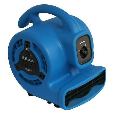 3 Speed Multi Purpose Mini Mighty Air Mover Utility Blower Fan w/ Power Outlets