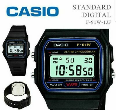 Casio Digital Standard F-91W-1JF Casual Watch Water Resist Japan
