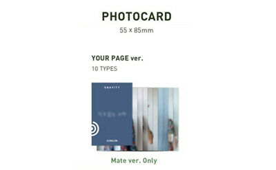 Day6 - 5Th Mini Album The Book Of Us : Gravity Photo Card Your Page Ver. Wonpil