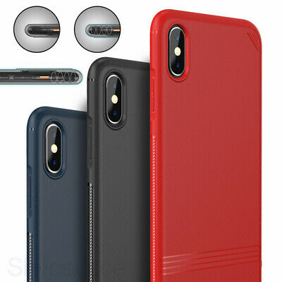 Shockproof Slim Hybrid Silicone Cover Case For iPhone X XR XS Mas 6 6s 7 8 Plus