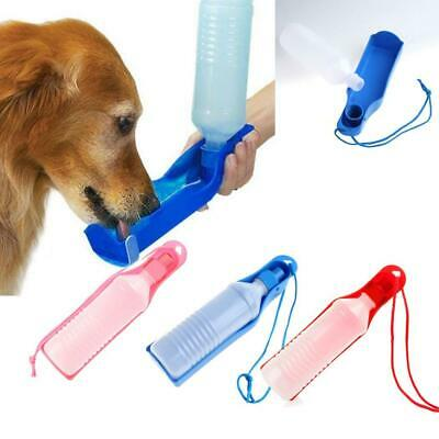 Portable Pet Dog Cat Outdoor Travel Water Bowl Bottle Feeder Drinking Fountain M