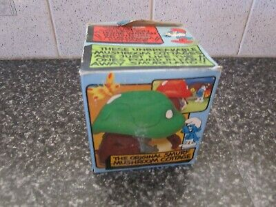Smurf Red roof House in box vintage Rare