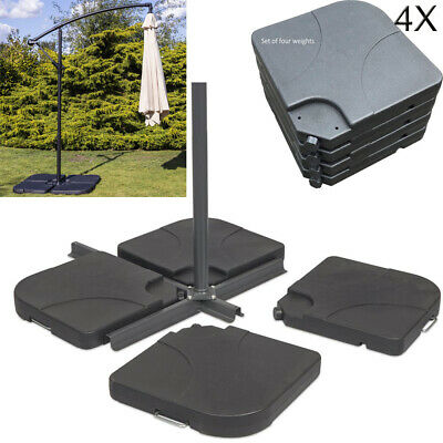 4X Square Parasol Base Stand Weights for Banana Hanging Cantilever Umbrella UK