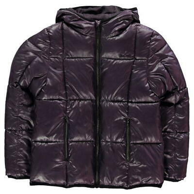 USA Pro Quilted Jacket Coat Padded Length Purple Girls Age 13 *REF65