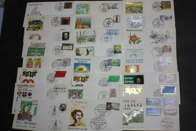 Lot 24 Valued Germany Stamp First Day Covers Fdc 1980 Collection