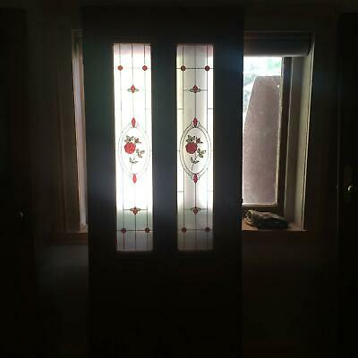 3 X  Leadlight stain glass Solid Timber Door 2030x810x40