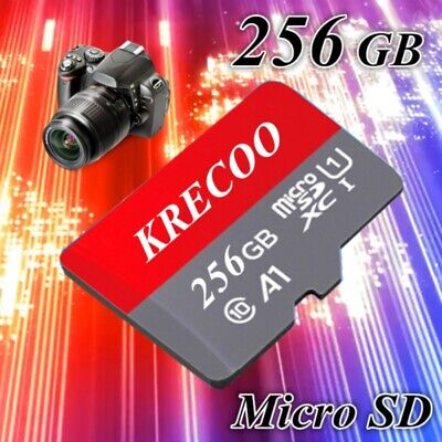 KRECOO Memory Card Micro Sd 64GB 128GB 256GB & Card Adapter for Phone/Tablet/PC
