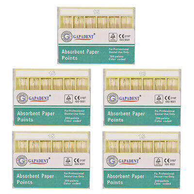 5Packs Dental Absorbent Paper Points Root Canal Endo Cotton Fiber 0.02 15# CE