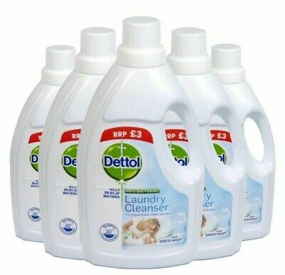 Dettol Antibacterial Fresh Cotton Laundry Cleanser, 1 Litre x 6