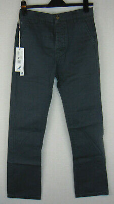 Kangol Boys Chino Trousers Gun Metal Grey BNWT Age 13 Years RRP £30 W28 L29