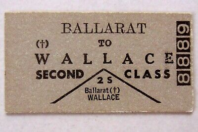 VR - Ballarat to Wallace - Second Class Single