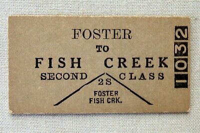 VR - Foster to Fish Creek - Second Class Single