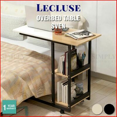 Lecluse Overbed Table Trolley Hospital Desk Tray Mobile Medical Laptop Meal PC